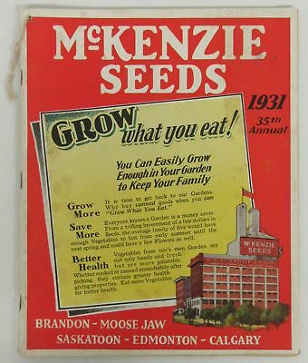 1931 McKenzie Seeds 35th Annual Catalog - garden