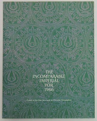 The Incomarable Imperial for 1966 Brochure - Finest of the fine cars by Chrysler