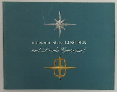 1960 ninety six Lincoln and Lincoln Continental Brochure