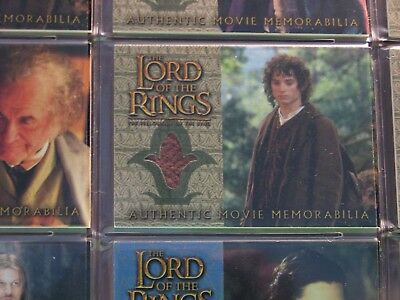 Lord Of The Rings Costume Card For The Fellowship Of The Ring Frodo