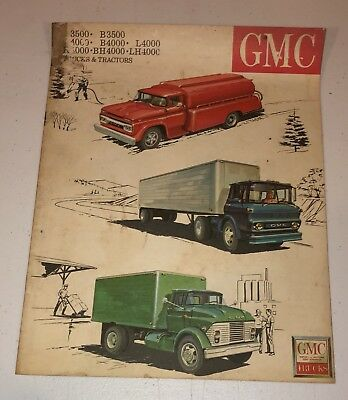 1940's Vintage GMC Trucks Tractors Automobile Car Dealership Brochure Magazine