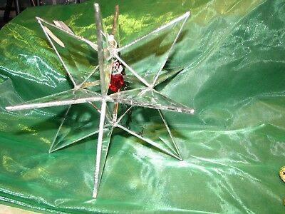 """Moravian """"12 Pointed"""" Beveled Glass Star Stained Glass Hand Made"""