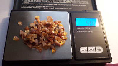 Loose raw Baltic amber - 5 GRAM / 25 carat lot - for crafts and decor - NATURAL