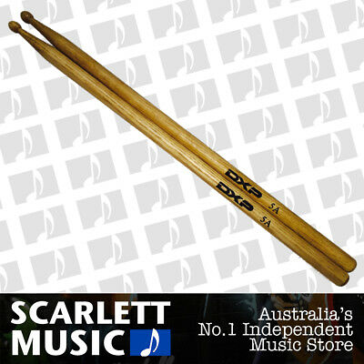 DXP D115A Maple 5A Drum Sticks With Wooden Tips - New