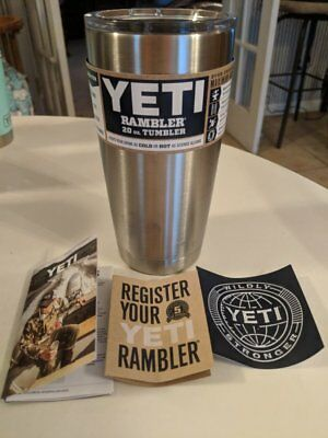 YETI Rambler Stainless Steel Vacuum Insulated Tumbler with Magslider Lid, 20 oz.