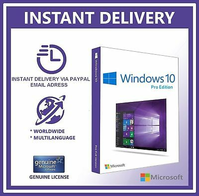 Instant Windows 10 Professional Pro 32/64 Bit Activation Code License Key