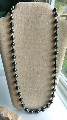 vintage Dall 'Avo Arezzo Italy 925 sterling silver magnetite black necklace