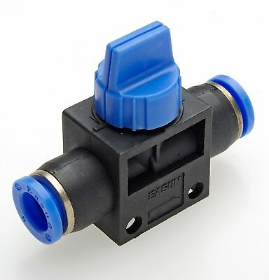 BALL VALVE FITTING Pneumatic Push Fit Connectors Sizes 6mm 8mm 10mm NEW airline