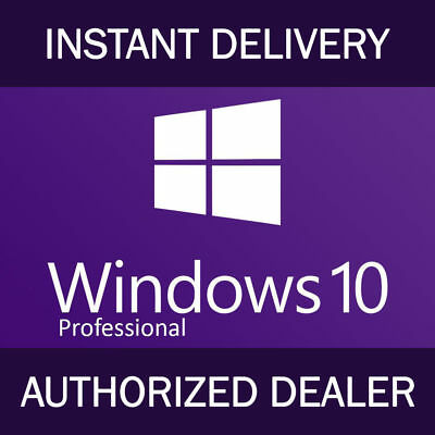 Instant Windows 10 Professional Pro 32|64 Bit Genuine Activation Key License New