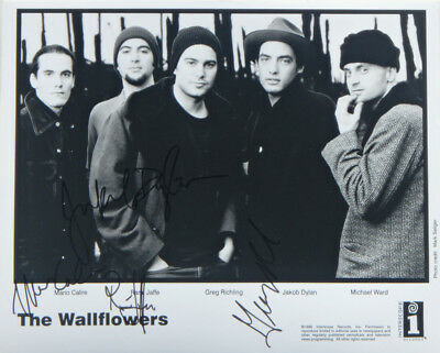"""Jakob Dylan THE WALLFLOWERS Signed Autographed US Promo 8"""" X 10"""" Publicity Photo"""