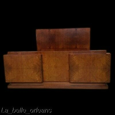 STUNNING 1920s FRENCH ART-DECO BURL WALNUT BED. FULL / QUEEN SIZE. MUST SEE !!