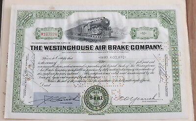 The Westinghouse Air Brake Company Stock Certificate