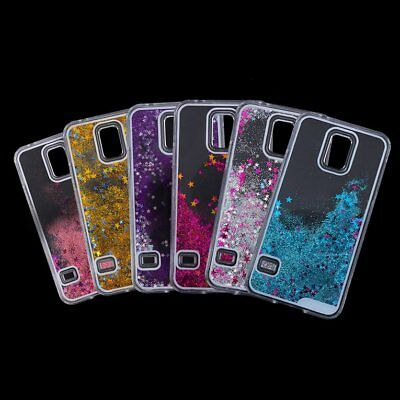 Dynamic Moving Liquid Glitter Flow Quicksand Case Cover For Samsung S5 XA