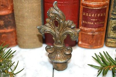 Antique French Bronze Finish Fleur de Lis Candle Snuffer Extinguisher Finial