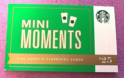 "Starbucks 2012  ""mini Moments"" Paper Original Booklet Gift Card-New"