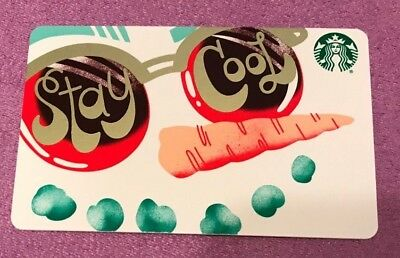 "Starbucks 2018 Christmas "" Stay Cool"" Gift Card -New"