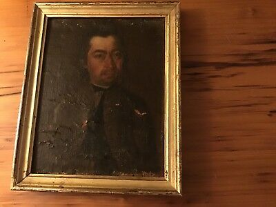 c 1760 18th Century Oil on Canvas Portrait Painting of a Nantucket Island Man