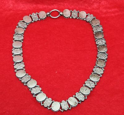 """Vintage 1920's Art Deco Sterling Silver Panel 18"""" 18 inch Necklace"""