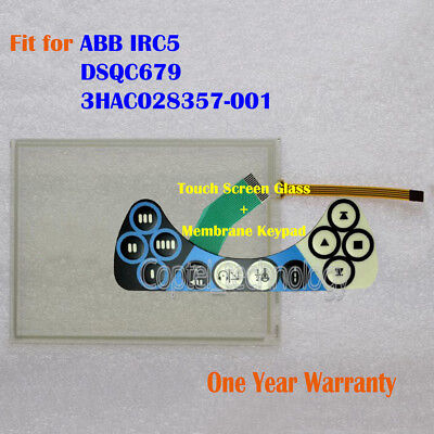 New Touch Screen Glass + Keypad for ABB IRC5 FlexPendant  DSQC679 3HAC028357-001