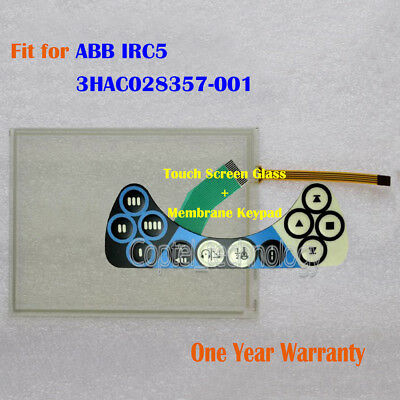 New Touch Screen Glass + Keypad for ABB IRC5 3HAC028357-001 One Year Warranty