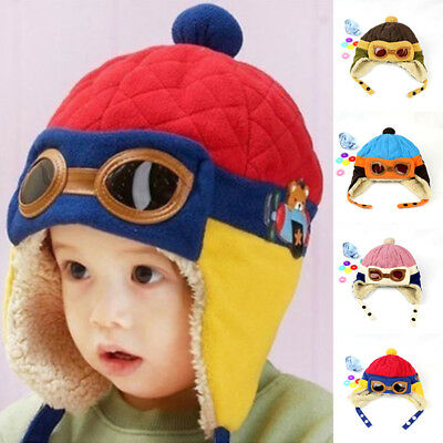 054340700da7 1pc Winter Baby Toddler Boy Girl Kids Pilot Aviator Warm Cap Hat Beanie Cap  2019