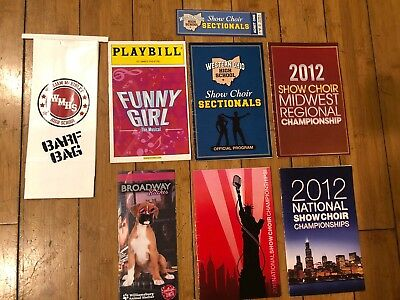 Official Glee Program Ticket Playbill Screen Used Prop Lot
