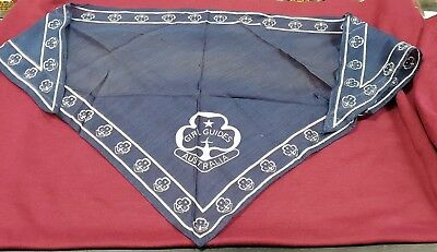 Vintage Girl Guides Scarf Bandana Hanky And Badges