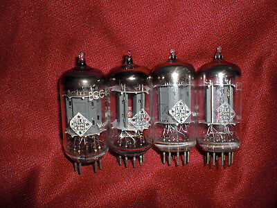 Telefunken 12ax7 vaccum tubes 4 pieces (tested strong)