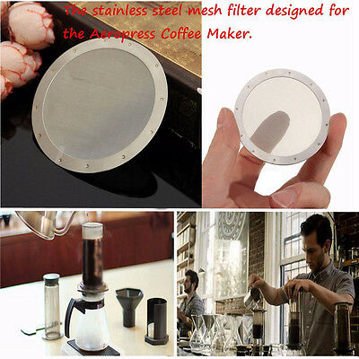 Ultra Fine Metal Coffee Filter Disc Reusable Replacement Stainless Steel Mesh