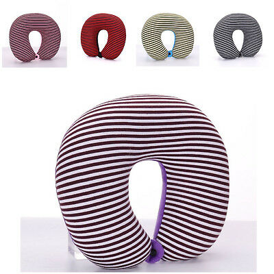 BRAND NEW STRIPED GRAY Travel Airplane Pillow Neck Donut Pillow Support