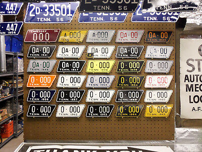 Get Your Custom Number Tennessee Motorcycle License Plate Tag Here 1938 - 1965