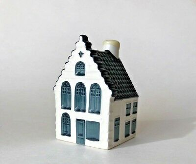 Blue Delft KLM BOLS Royal Distilleries Dutch Holland House Bottle #49 Excellent