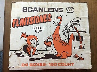 Scanlens Flintstones Bubblegum Case Sign - ORIGINAL VINTAGE