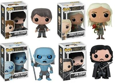 Funko Pop Game Of Thrones Arya Stark, Jon Snow, White Walker, Daenerys 4 Set