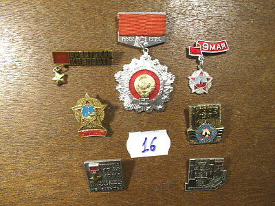 Russia Soviet Ussr Pin Badge Lot Lot(16)