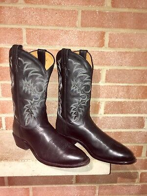 cf37fb79aae TONY LAMA MENS Cowboy All Leather Segar Black Boots # 7900 US 11 D Fast  Shipp
