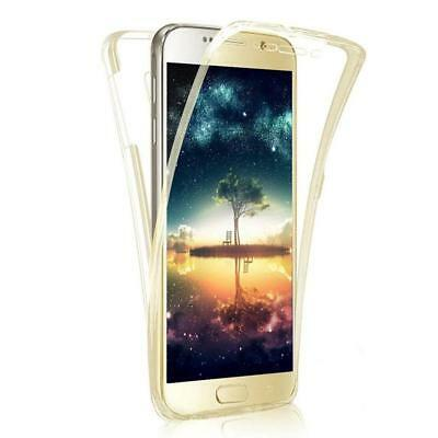 Samsung Galaxy S7 S7 Edge S8 S8+ 360° Double Sided Transparent Clear Case Cover