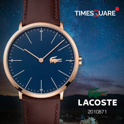 Lacoste Brown Leather Strap Mens 2010871