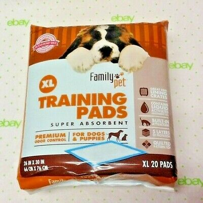 Family Pet XL Training Pads For Dogs & Puppies 26''x30'' Pads SUPER Absorbent