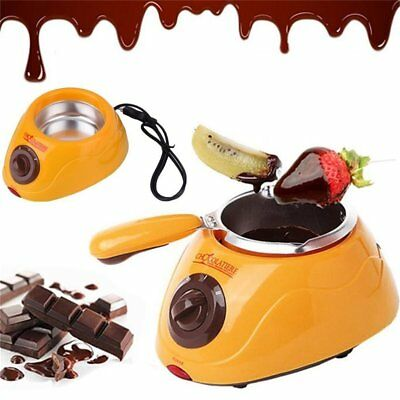 Yellow Hot Chocolate Melting Pot Electric Fondue Melter Machine DIY Tool -WR33