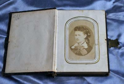 Antique Civil War/victorian Era Photograph Album Cdv, Tintype, Gem