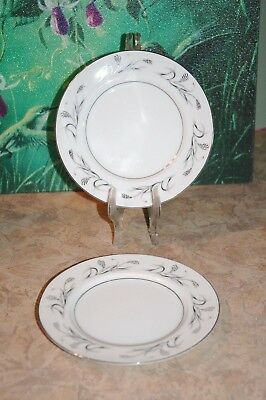 Harmony House Fine China - PLATINUM GARLAND - 3541 - Bread & Butter Plates (2)
