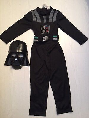 Star Wars Darth Vader Costume Fancy Dress 5-6 years Boys Outfit Kids New