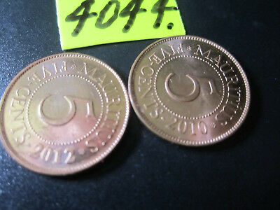 2 x Assorted COINS  Mar4044/1  from MAURITIUS  16  gms