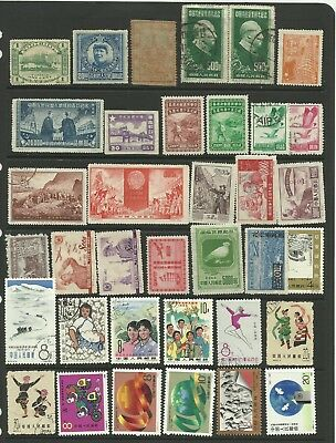 A Selection of Mounted Mint & Used Chinese Stamps on Hanger page.