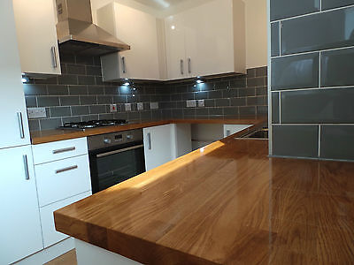 Prime Solid Oak Worktop, 40mm staves, Solid Prime Grade Wood, Free Delivery!!!