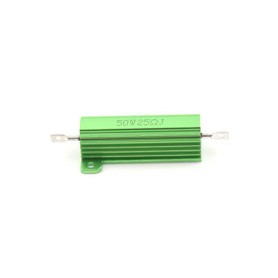 Aluminum Case 50W 25 Ohm Chassis Mounted Wirewound Resistor Green ^F