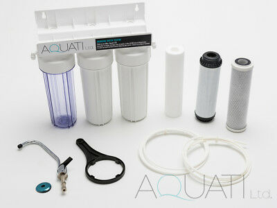 Home Under Sink Drinking Water Filter Purifier and Softener Kit Salt Free Aquati