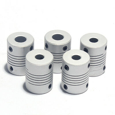 4, 5, 6.35, 8, 10mm Shaft Flexible Coupling Coupleur accouplement mécanique