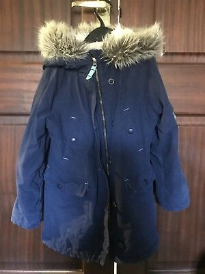 Mini Boden Girls Navy Blue Coat Age 7-8 years